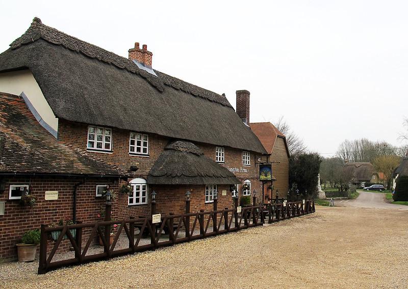 The Langton Arms pub at Tarrant Monkton