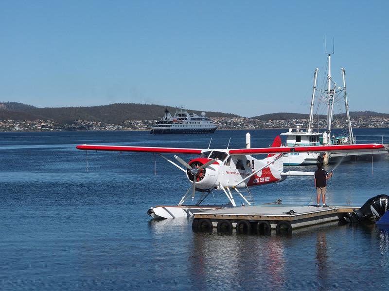 Hobart_docks_Orion outward bound