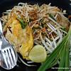 Pad Thai dish in Bangkok, Thailand in August 2017