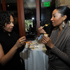 Shana Laster and Niya Hardin enjoys amuse' servings prepared by celebrity Top Chefs.
