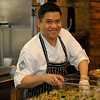Top Chef contestant (Season 7) Arnold Myint making something special for the guests attending tonight's Top Chef Dinner at Ray's at Killer Creek.