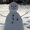 this snowman has art student written all over it. yar!