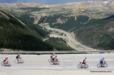 The approach to the switchback, Loveland Pass.