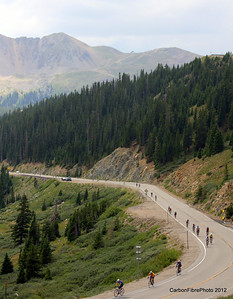 The grind up West Loveland Pass.