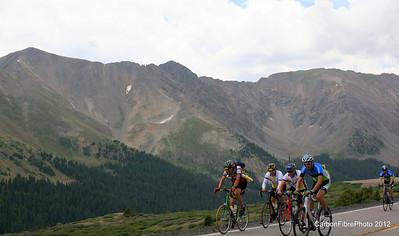 Still pedaling, West Loveland Pass.