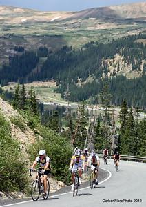 The first turn up Loveland Pass.