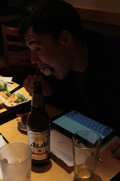 Can't you almost taste it. All sushi goes well with ASahi