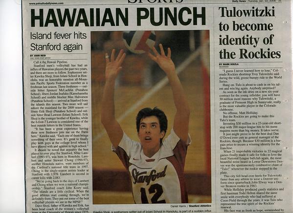 2008 01 22 Palo Alto Daily News (Kawika Shoji)