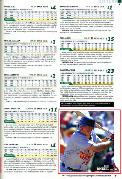 2009 01 01 Sporting News Fantasy Baseball (Rick Ankiel)