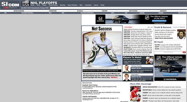 2009 04 20 SportsIllustrated com (Hiller)