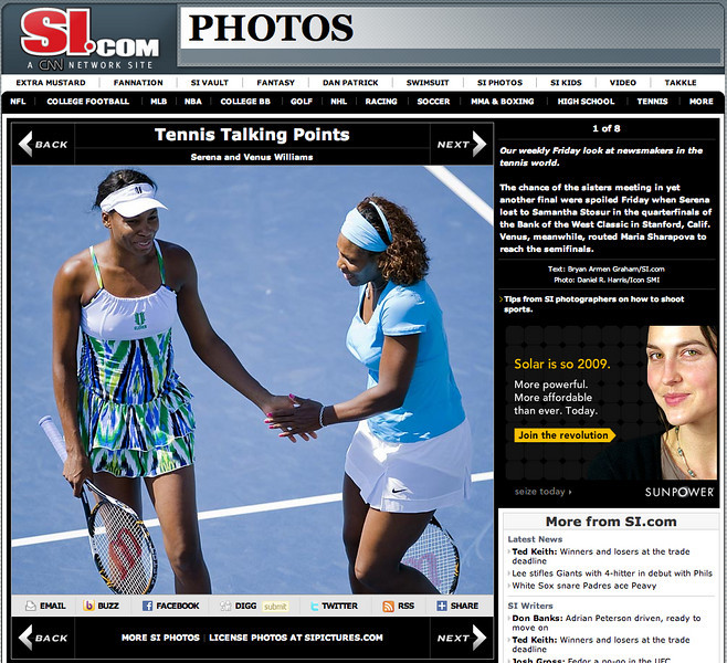 2009 07 31 SportsIllustrated com (Serena and Venus Williams)