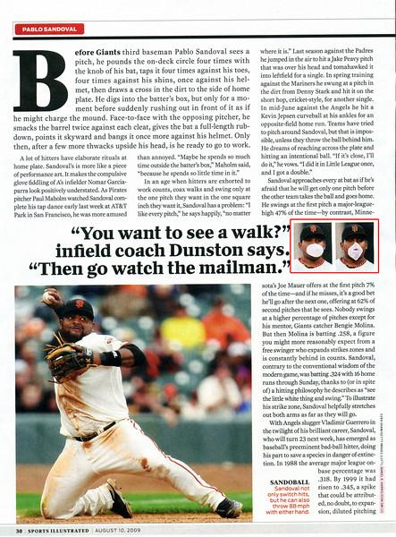 2009 08 10 Sports Illustrated (Sandoval)