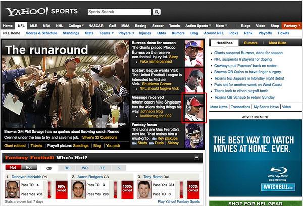 2008 12 02 Yahoo! Sports (Mike Singletary)