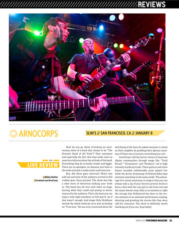 Performer Magazine, Mar 2011