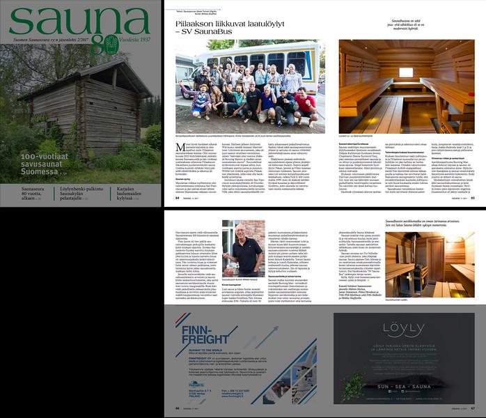 Sauna Lehti / Sauna Magazine 2/2017