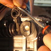 Slide arm back into place and snap clip onto the shaft, valve one done – easy, right?