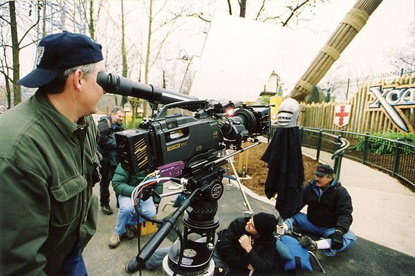 Director of Photography Doug Hastings lenses a Six Flaggs television commercial for Technisonic Studios in 2003.