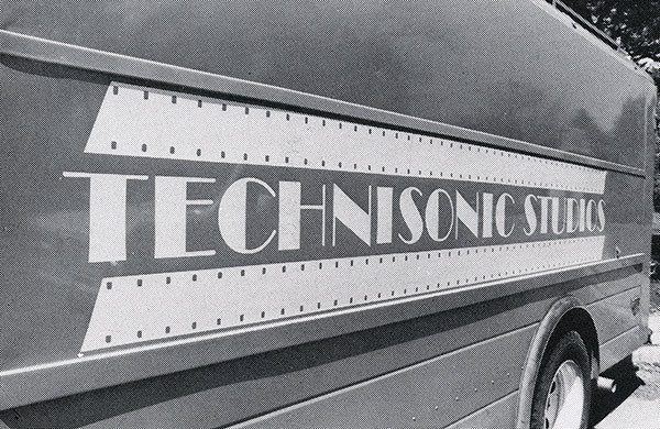 An early Technisonic Studios grip truck.  (Photo from the Technisonic archive.)