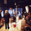 Clients behind the scenes while we shoot a corporate video on the sound stage.
