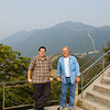 Director Bob Miano (L) and DP Tom Newcomb (R) take a break from shooting a corporate video on location at The Great Wall in China.