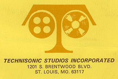 Technisonic Studios spent much of its 81 year life on Brentwood Boulevard, about 20 minutes west of downtown St. Louis.  The building was demolished in the early 1990's to make way for a shopping center - The St. Louis Galleria Mall.
