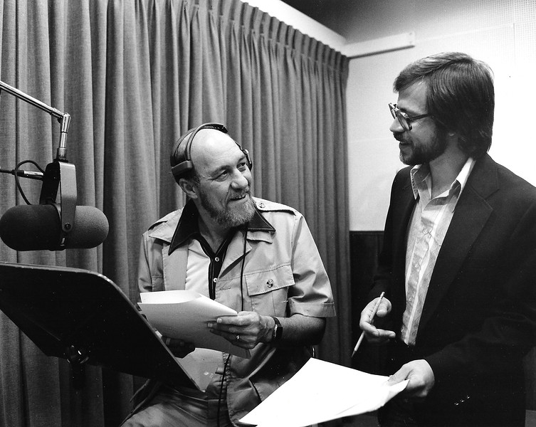 Dave Allen (L) and Wally Rombach (R) working on a audio session.  (Photo courtesy of Wall Rombach.)