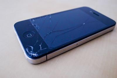 iPhone 4 with broken screen