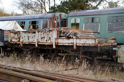2 of 2 Unknown Flat Weigh Wagon ex Ironbridge    28/11/15