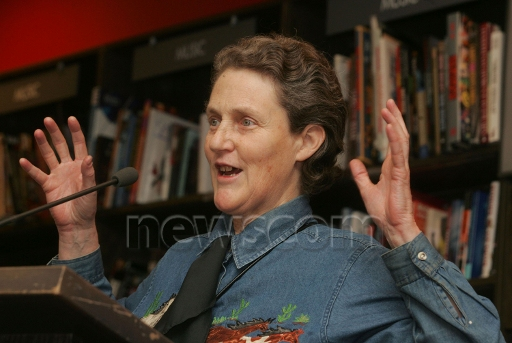 TA3.12 / Choice 1 of 9<br /> <br /> Jan 09, 2006; New York, NY, USA; Acclaimed autistic animal scientist TEMPLE GRANDIN promotes her book 'Animals in Translation' at Borders Books-Time Warner Center-Columbus Circle.<br /> Mandatory Credit: Photo by Nancy Kaszerman/ZUMA Press.<br /> (©) Copyright 2006 by Nancy Kaszerman (Newscom TagID: zumalive370465) [Photo via Newscom]
