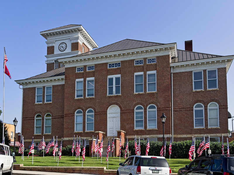"""""""Parade of Flags"""" display at Monroe County Courthouse"""