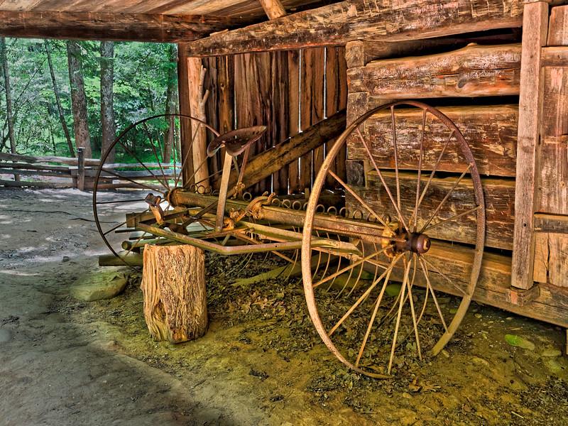 Old Farm Equipment at Cades Cove