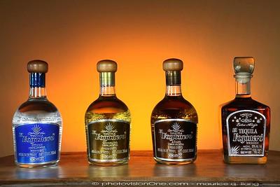 Fogonero Tequila (4 types) bottle shots.