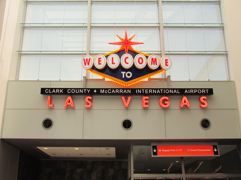 There are several of the welcome signs where you go to baggage claim and surface transportation.