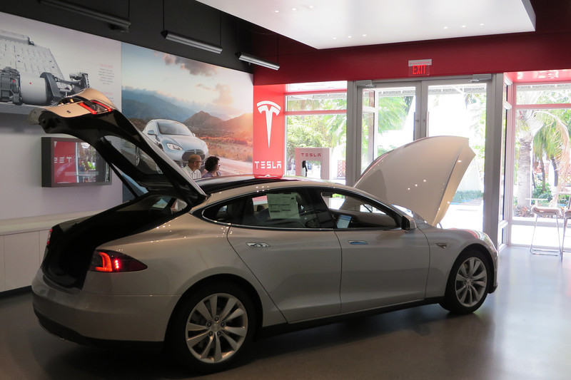 Our first stop was the Tesla store.