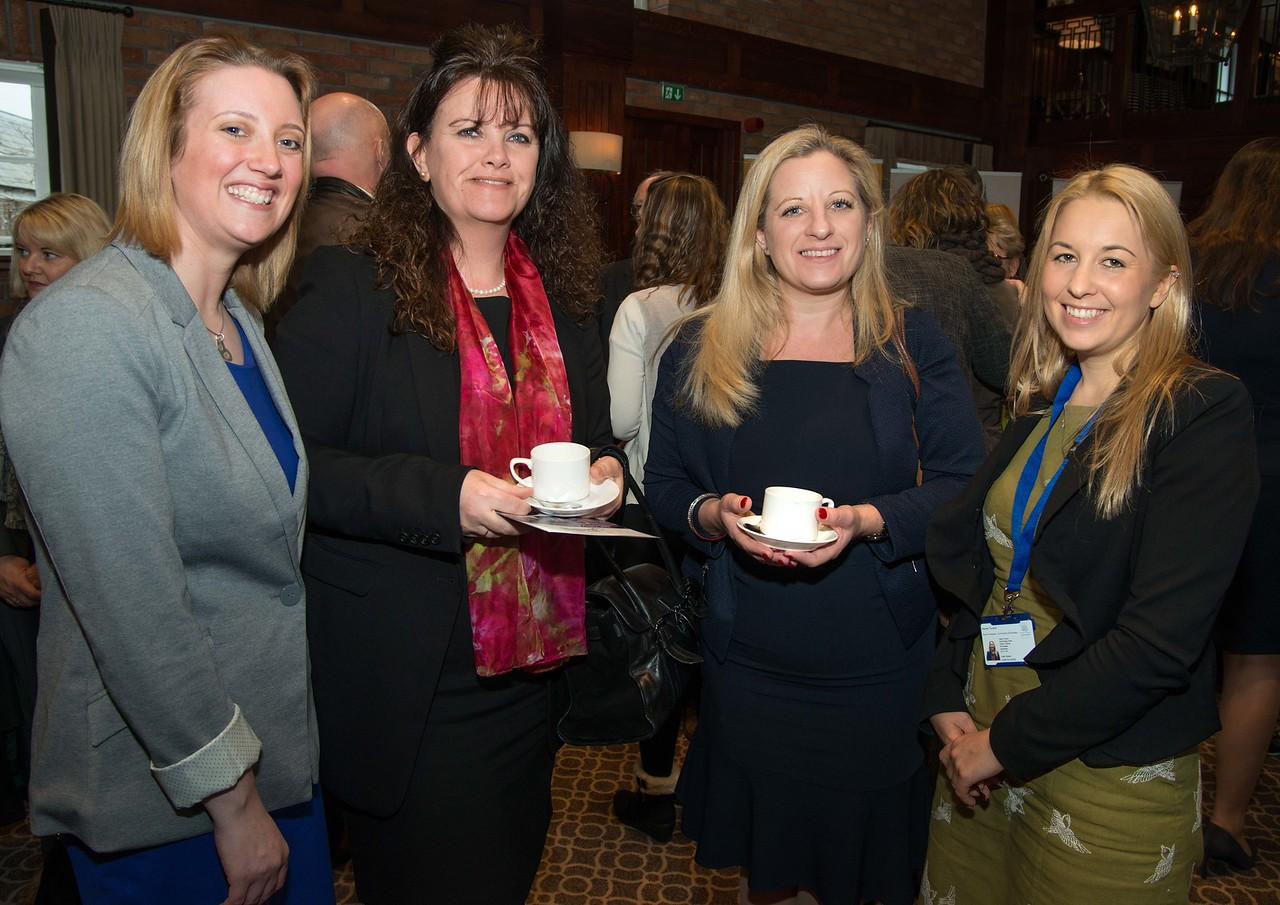 Test Valley Business Awards 2016 Launch - (l to r) Lisa Congdon (Naomi House), Samantha Andrews (Hamilton, Parker & Buckingham), Celeste Hamilton (Hamilton, Parker & Buckingham) and Rachel Turnbull (Naomi House). 4th March, 2016 - Picture Andy Brooks