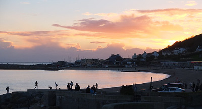 Sunset over Lyme harbour