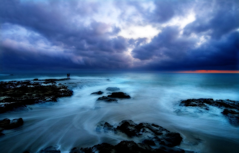 With You* Laguna Beach, people, romance, blue, ocean, clouds, storm