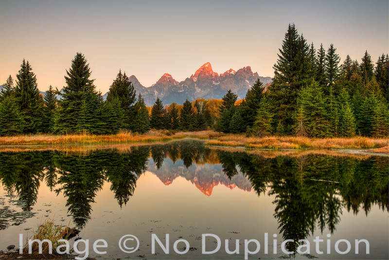 The Teton Mountains from Schwabacher's Landing