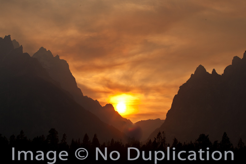 Grand Teton Fire Sunset