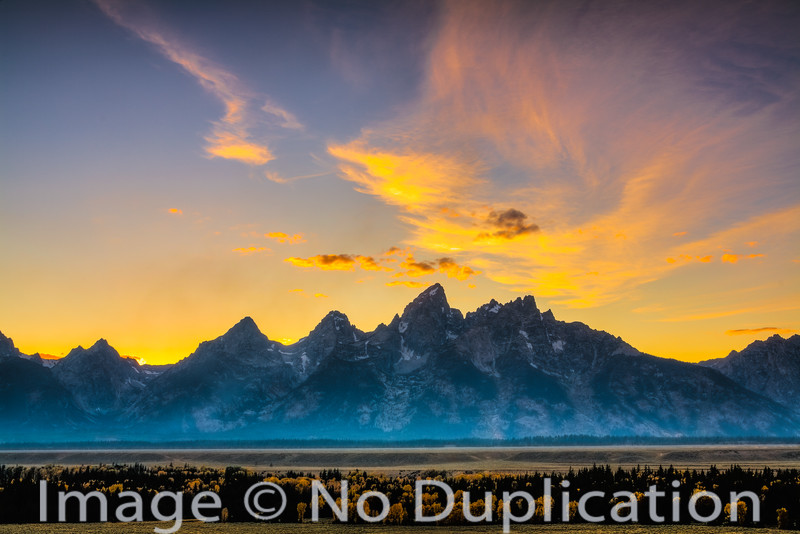 The Teton Mountains, Grand Teton National Park, Wyoming