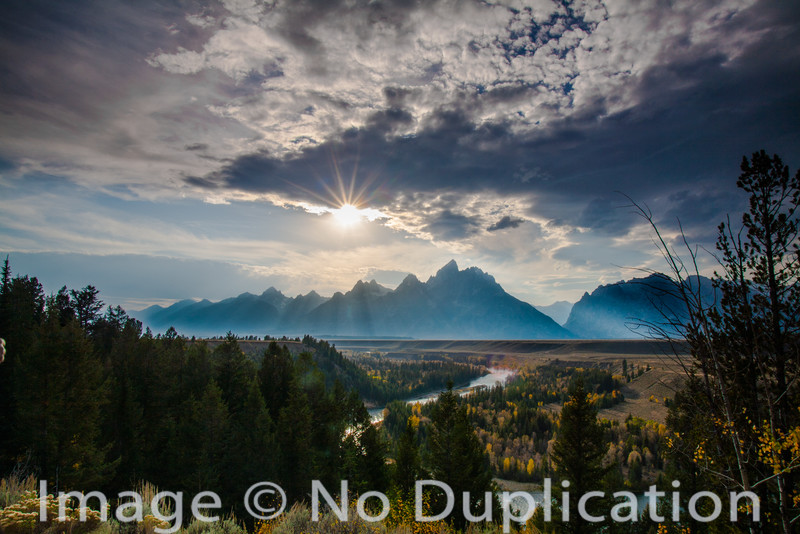 The Tetons from the Snake River Overlook, Grand Teton National Park, Wyoming