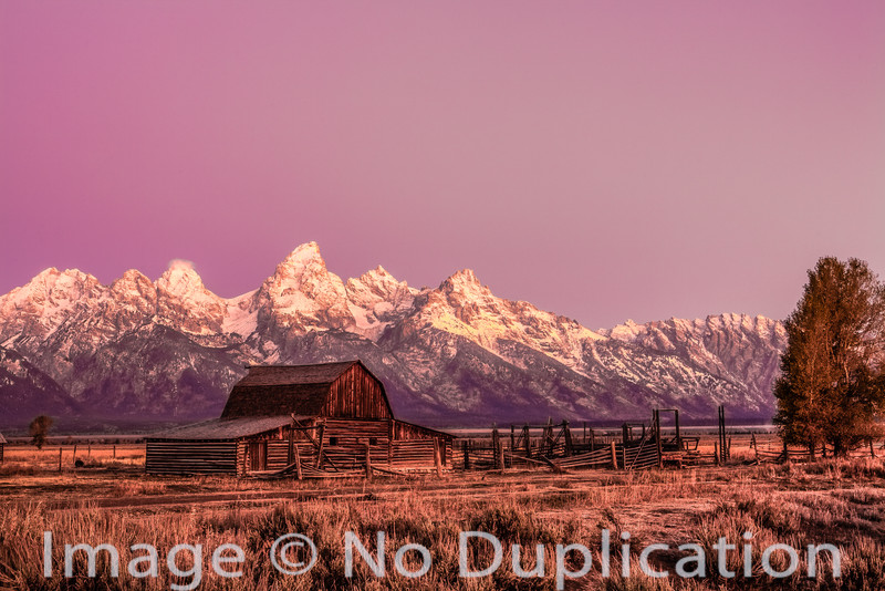 Mormon Row barn, Grand Teton National Park, Wyoming