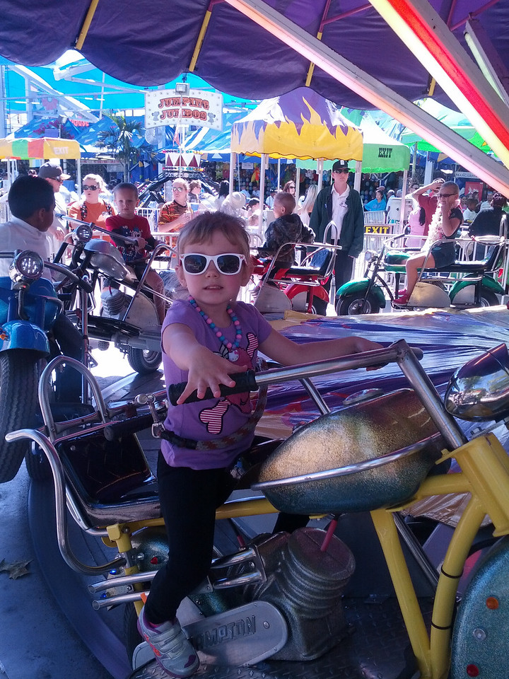 Laney rockin' the motorcycle cool look