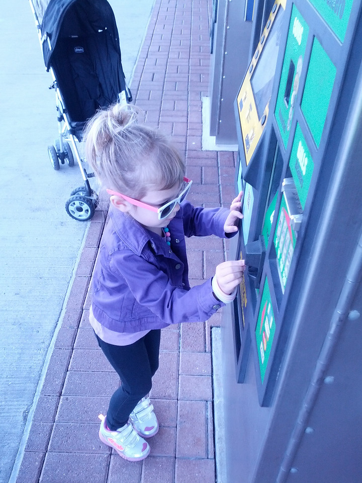 Laney buys her train ticket