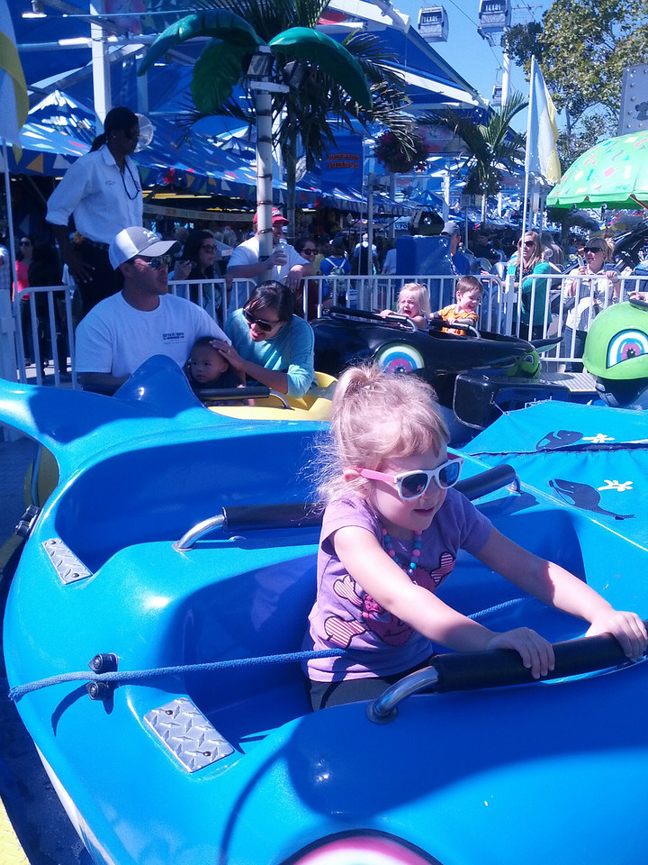Laney on the whale ride
