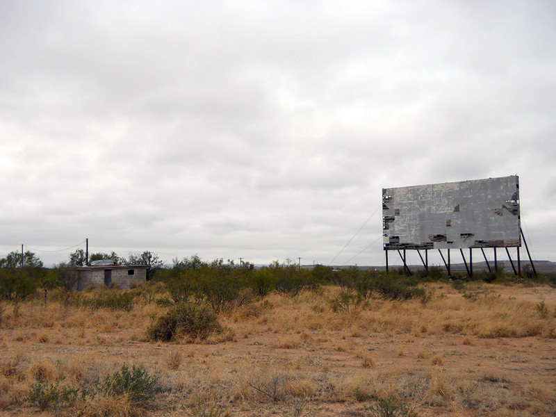 McCAMEY DRIVE-IN<br /> McCamey, Texas<br /> <br /> I passed this forlorn drive-in on my way to Odessa and just had to give it its due. It was a good day to take its picture.