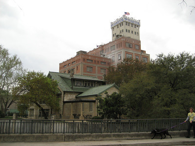 House and mill in the King William Historic District