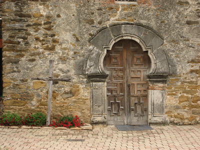 Church door, Mission Espada