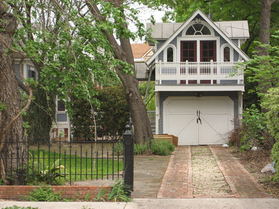 A fancy garage in the King William Historic District