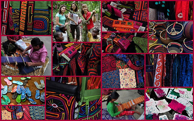 On this day in early May, 2010, I enjoyed the sights and sounds of the 1st Annual Fair Trade Film Festival at the S. Lamar Alamo Drafthouse.  I loved the collection of colors from 10,000 Villages, the free music, and the concentration of the weavers.  3 women (2nd photo) from St Austin (on the Drag) went to Ghana, Africa in 2008 on a quest to live with the coffee growers.  They returned with a mission to promote Fair Trade Coffee and Chocolate across Austin and beyond.